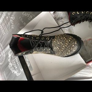 Shoes - Black gold studded boots